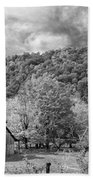 West Virginia Barns Monochrome Beach Towel