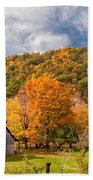 West Virginia Barns  Beach Towel