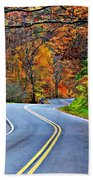 West Virginia Curves 2 Beach Towel