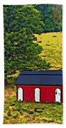 West Virginia Line Art Beach Towel
