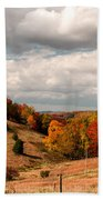 West Virginia Rural Landscape Fall Beach Towel
