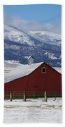 Westcliffe Landmark - The Red Barn Beach Towel