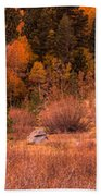Western Barn At Sunset Iv Beach Towel