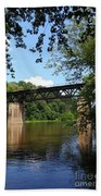 Western Maryland Railroad Crossing The Potomac River Beach Towel