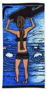 Westport Surfer Chick Beach Towel