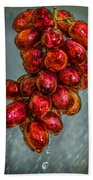 Wet Grapes Four Beach Towel by Bob Orsillo