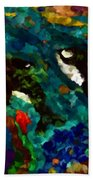Whales At Sea - Orcas - Abstract Ink Painting Beach Towel
