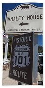 Whaley House Us Hwy 101 Historic Route Beach Towel
