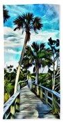 What A Beautiful Boardwalk Beach Towel