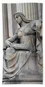 What Is Past Is Prologue Statue At National Archives -- 2 Beach Towel