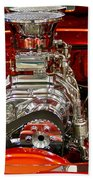 What Is Under The Hood-red Customized Retro Pontiac Beach Towel