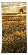 Wheat Fields Of Switzerland Beach Towel