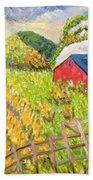Wheat Harvest Kamouraska Quebec Beach Towel by Patricia Eyre