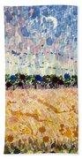 Wheatfields At Dusk Beach Towel