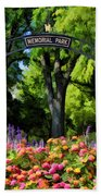 Wheaton Memorial Park Beach Towel