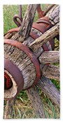 Wheel Of Old Beach Towel by Marty Koch