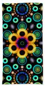 Wheels Of Light Beach Towel