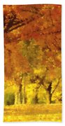 When Autumn Leaves Fall Beach Towel