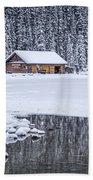 When It Snows Outside Beach Towel by Evelina Kremsdorf