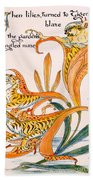 When Lilies Turned To Tiger Blaze Beach Towel by Walter Crane