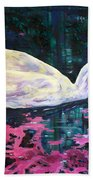 Where Lilac Fall Beach Towel by Derrick Higgins