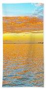 Where Orange Touches Orange Beach Towel