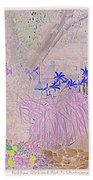 Whimsical Garden Beach Towel