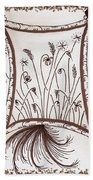 Whimsical Window Beach Towel