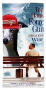 Whippet Art - Forrest Gump Movie Poster Beach Towel