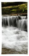 Whispering Waterfall Landscape Beach Towel