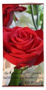 Whispers Of Passion And Love Red Rose Greeting Card  Beach Towel