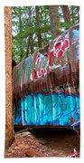 Whistler Train Wreck Box Car Graffiti Beach Towel