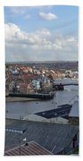 Whitby Rooftops Beach Towel