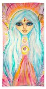 White Angel Beach Towel