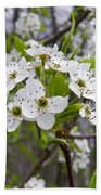 White Blooms Beach Towel