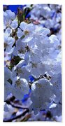 White Blossoms Beach Towel