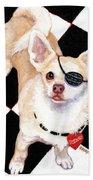White Chihuahua - Pistachio Beach Towel