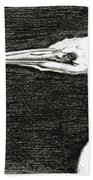 White Egret Art - The Great One - By Sharon Cummings Beach Towel