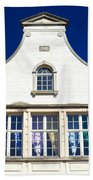 White House In Bruges Beach Towel