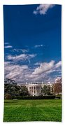 White House Lawn In Spring Beach Towel