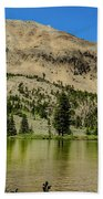 White Knob Mountain Lake Beach Towel
