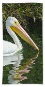 White Pelican Beach Towel