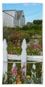 White Picket Fence In Mendocino Beach Towel