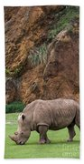 White Rhino 13 Beach Towel
