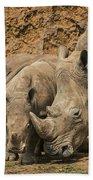 White Rhino 3 Beach Towel