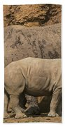 White Rhino 4 Beach Towel