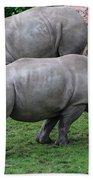 White Rhinoceros Beach Towel