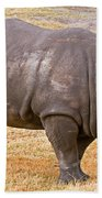 White Rhinoceros Beach Towel
