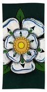 White Rose Of York Beach Towel