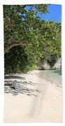 White Sand And Blue Sky Beach Towel